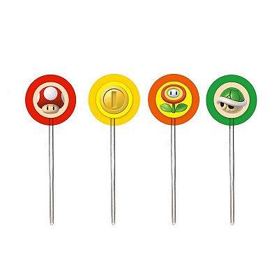 Pick Decorativo Super Mario Bros - 12 unidades