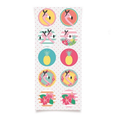 Adesivo Flamingo - 3 cartelas