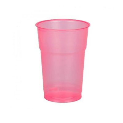 Copo Neon Pink 300ml - 50 unidades