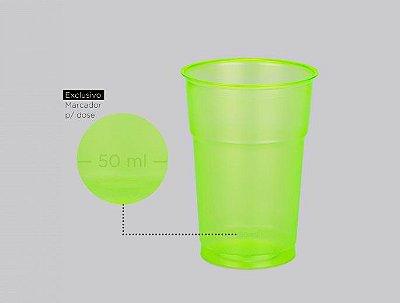 Copo Neon Verde 300ml - 50 unidades