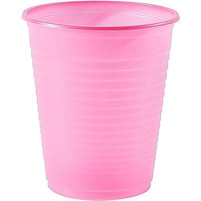 Copo Descartável Rosa 200 ml - 50 unidades