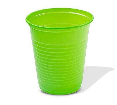 Copo Descartável Verde 200 ml - 50 unidades