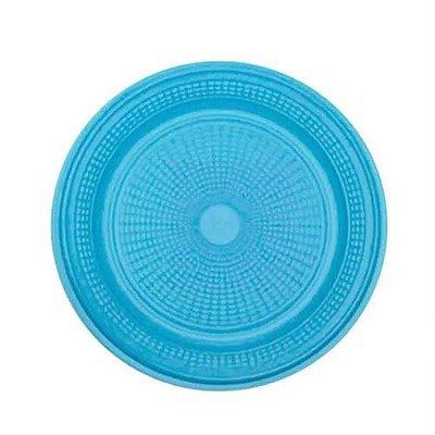 Prato Descartável Azul 15 cm. 10 unidades