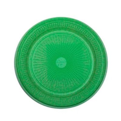 Prato Descartável Verde 15 cm. 10 unidades