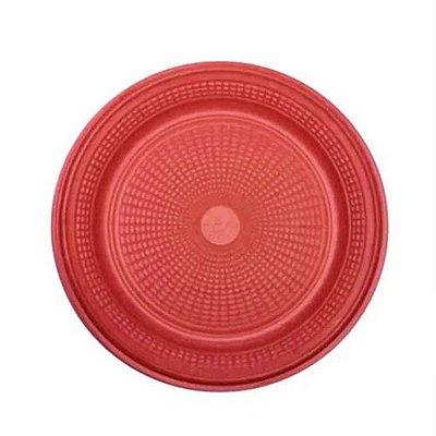 Prato Descartável Vermelho 15 cm. 10 unidades