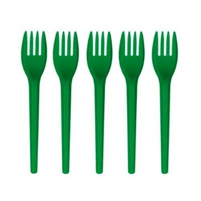 Garfo de Sobremesa Verde - 50 unidades