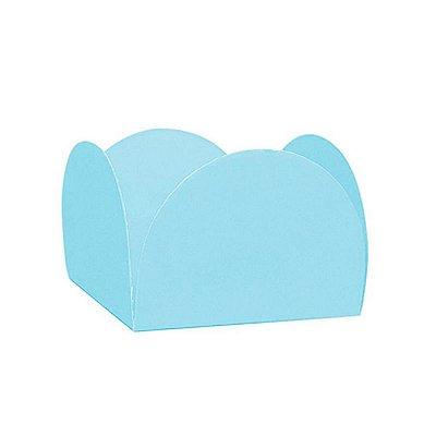 Porta Forminha 4 Pétalas Azul Claro - 50 unidades