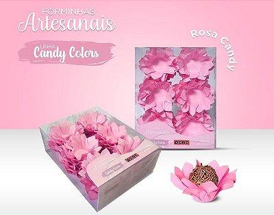 Forminha Veneza Rosa Candy - 40 unidades