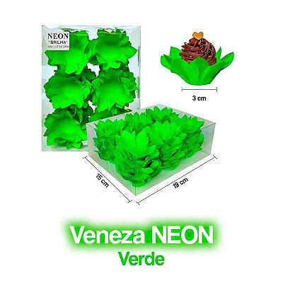 Forminha Veneza Verde Neon - 40 unidades