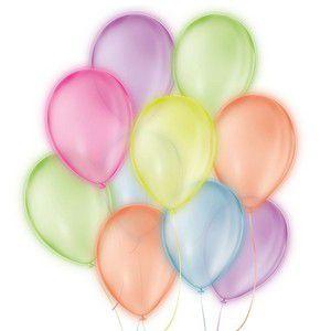 Balão Neon Sortido 9 Polegadas - 25 unidades