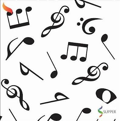 TNT Estampado Notas Musicais - 1 metro