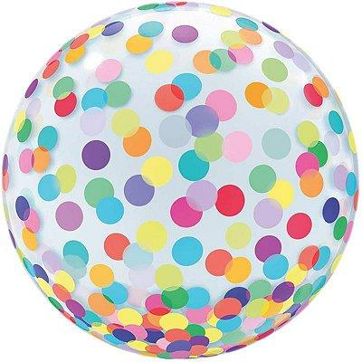 Balão Bubble Estampado Colorido 45 centímetros