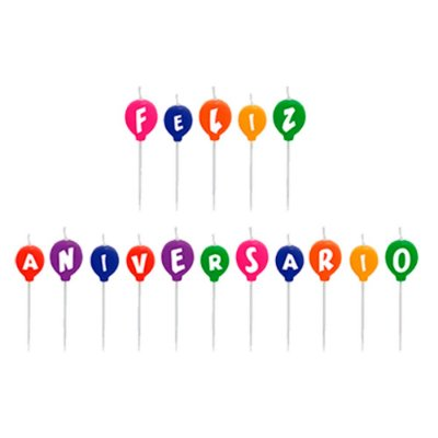 Vela Palito Feliz Aniversário