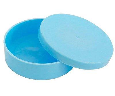 Latinha Plástica Azul Clara  - 10 unidades