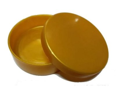 Latinha Plástica Dourada - 10 unidades