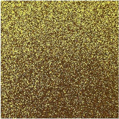 Placa de EVA Glitter Dourado- 1 unidade