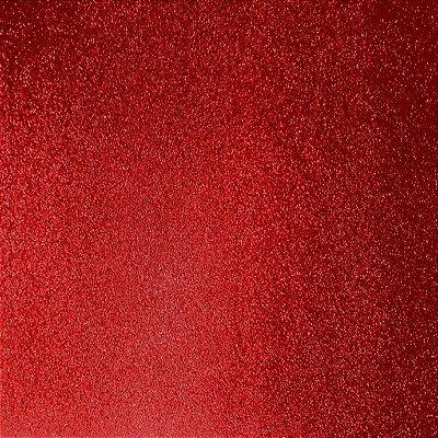 Placa de EVA Glitter Vermelho - 1 unidade