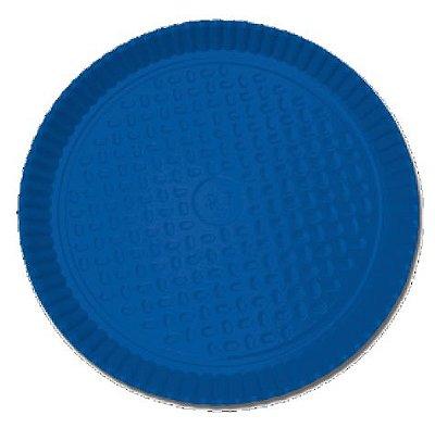 Prato Laminado Azul 26 cm