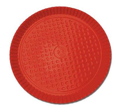 Prato Laminado Vermelho 26 cm