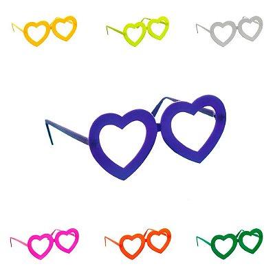 Óculos Coração Colorido - 10 unidades