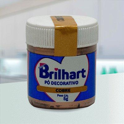 Pó de Brilho Cintilante Brilhart 5g Cobre