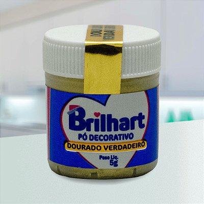 Pó de Brilho Cintilante Brilhart 5g Dourado Verdadeiro