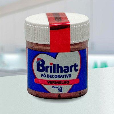 Pó de Brilho Cintilante Brilhart 5g Vermelho
