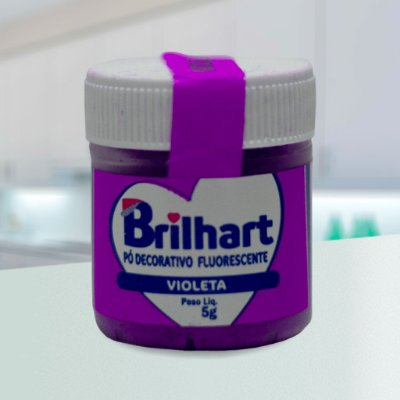 Pó de Brilho Brilhart 5g Neon Violeta