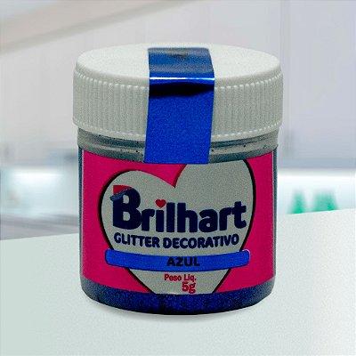 Glitter Decorativo Comestível Brilhart 5g - Azul