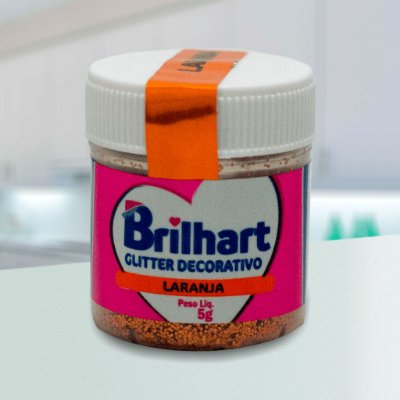 Glitter Decorativo Comestível Brilhart 5g - Laranja