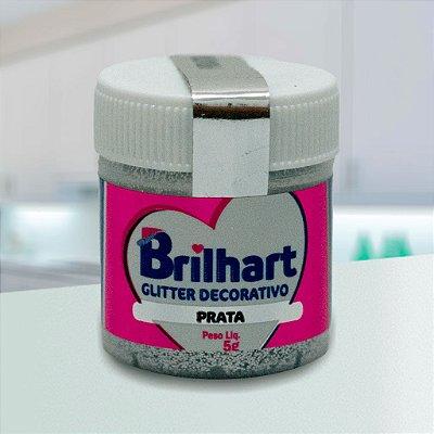 Glitter Decorativo Comestível Brilhart 5g - Prata