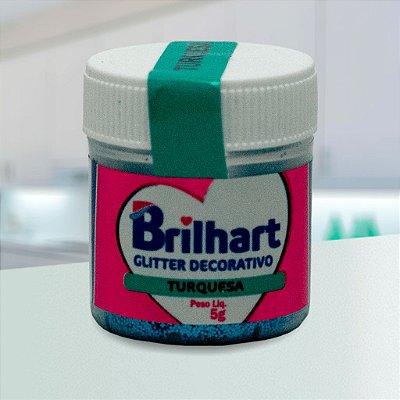 Glitter Decorativo Comestível Brilhart 5g - Turquesa