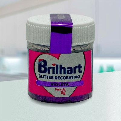 Glitter Decorativo Comestível Brilhart 5g - Violeta