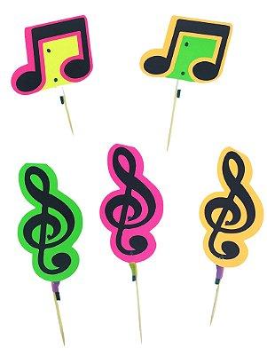Pick Notas Neon - 10 unidades