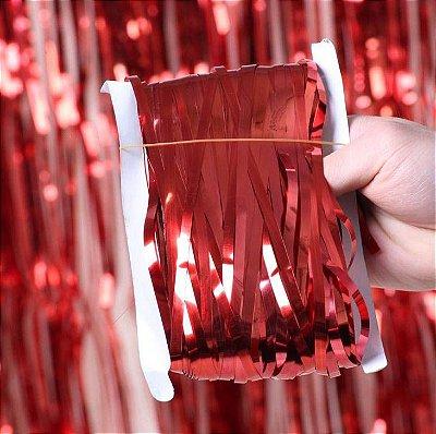 Cortina Decorativa Vermelha