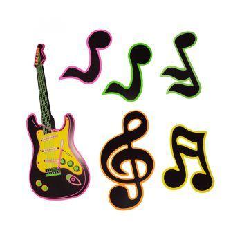 Kit Notas e Guitarra Neon