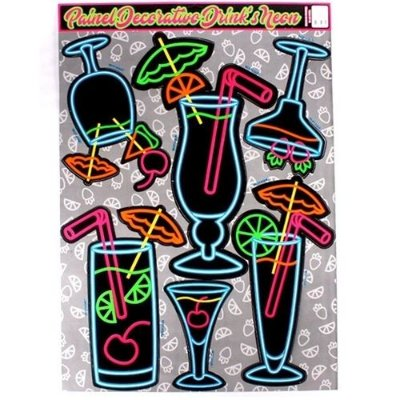 Painel Drinks Neon