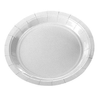 Prato Papel Branco - 10 unidades