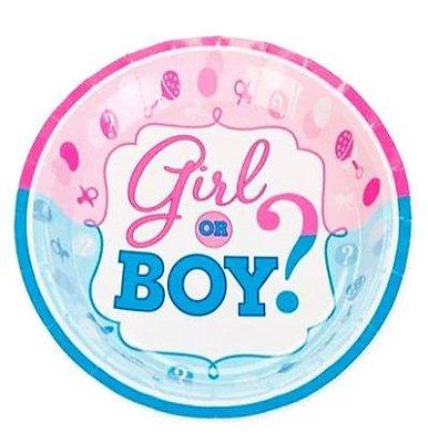 Prato Boy or Girl - 10 unidades