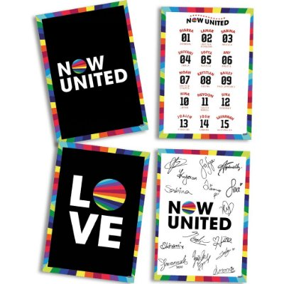 Quadros Decorativos Now United - 4 unidades