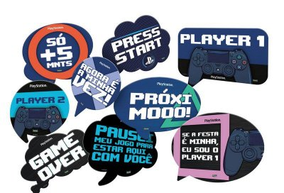 Kit Plaquinhas Playstation
