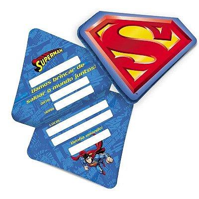 Convite Superman - 8 unidades