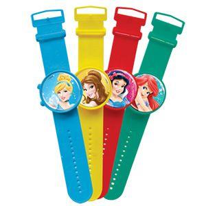 Relógio Brinquedo Princesas Disney - 4 unidades