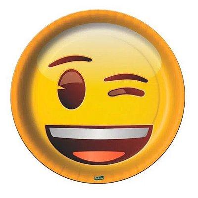 Prato de Festa Emoji - 8 unidades