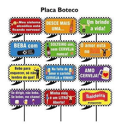 Plaquinhas para Foto Boteco - 10 unidades