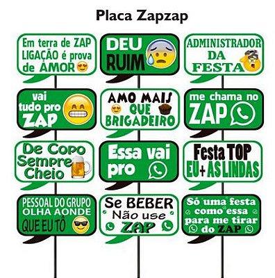 Plaquinhas para Foto Zap - 10 unidades