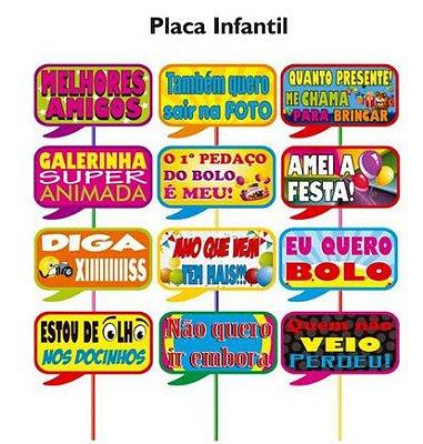 Plaquinhas para Foto Festa Infantil - 10 unidades