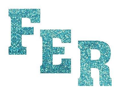 Letras de EVA Glitter Azul