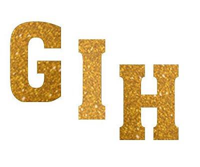 Letras de EVA Glitter Dourado