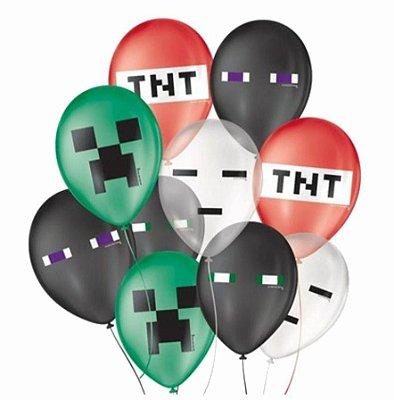 Balão Minecraft - 25 unidades